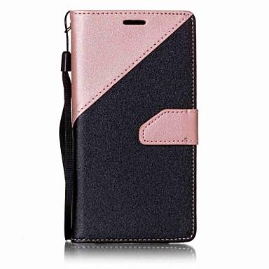Pouzdro Uyumluluk Samsung Galaxy A5(2016) A3(2016) Cüzdan Kart Tutucu Satandlı Tam Kaplama Tek Renk Sert PU Deri için A5(2016) A3(2016)