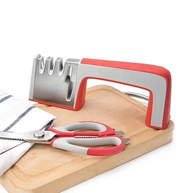voi viidenteentoista 4-in-1 teroitin kaikille veitsiä ja keittiö sakset ammatillinen 4 vaiheessa veitsi