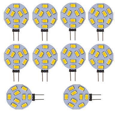 3W G4 LED Bi-pin Işıklar Tüp 9 SMD 5730 210 lm Serin Beyaz V 10 parça