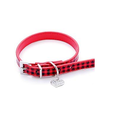 قط كلب ياقة قابل للسحبقابل للتعديل قلب حجر الراين بدعة جلد PU أحمر زهري