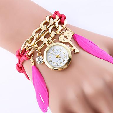 Damskie Modny Zegarek na nadgarstek Zegarek na bransoletce Kwarcowy Kolorowy Stop PasmoPostarzane Artystyczny Z Wisorkami