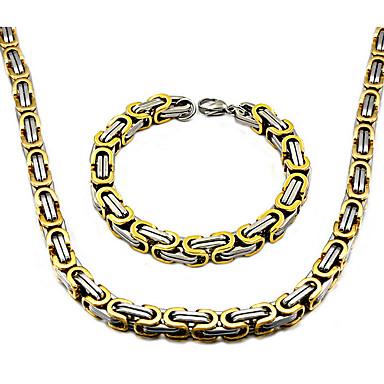 Erkek Paslanmaz Çelik Iplikçik kolye - Temel Siyah Gümüş Altın Kolyeler Uyumluluk Günlük