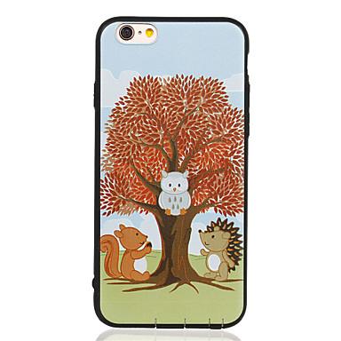 Varten Kuvio Etui Takakuori Etui Puu Pehmeä TPU varten Apple iPhone 6s Plus/6 Plus / iPhone 6s/6