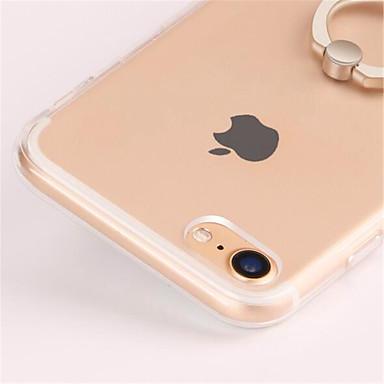 voordelige iPhone 7 hoesjes-hoesje Voor Apple iPhone 8 Plus / iPhone 8 / iPhone 7 Plus Ringhouder / Transparant Achterkant Effen Zacht TPU