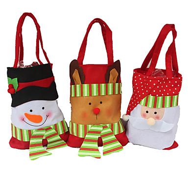 3pcs δημιουργικό δώρο χρησιμότητας των νοικοκυριών στερεοφωνικό Χριστούγεννα χιονάνθρωπος τσάντα καραμέλα Χριστούγεννα τσάντα δώρο
