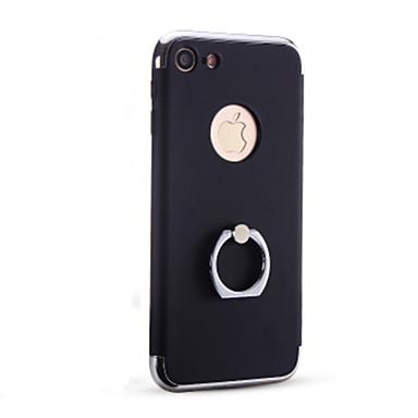Kılıf Na Apple iPhone 6 iPhone 7 Plus iPhone 7 Galwanizowane Uchwyt pierścieniowy Czarne etui Jendolity kolor Twarde PC na iPhone 7 Plus
