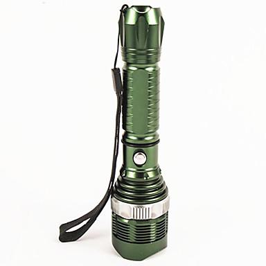 LED Fenerler LED 1200 lm 5 Kip LED Zoomable Kısılabilir Su Geçirmez Süper Hafif Yüksek Güçlü Kamp/Yürüyüş/Mağaracılık Günlük Kullanım