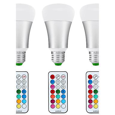 8,5 W E26/E27 LED-pallolamput A80 1 COB 880 lm Neutraali valkoinen RGB K Tunnistin Infrapunasensori Vedenkestävä Himmennettävissä