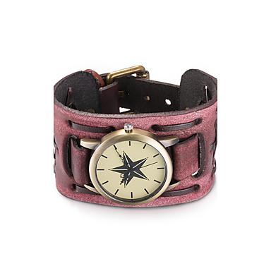 Damskie Zegarek na nadgarstek Zegarek na bransoletce Modny Kwarcowy Wodoszczelny Skóra Pasmo Vintage Artystyczny Kółko Czarny Czerwony