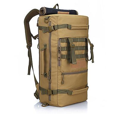 50 L Hátizsák Utazás Duffel hátizsák Kempingezés és túrázás Mászás Vízálló Viselhető Műanyag