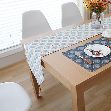 Ορθογώνιο Φλοράλ Με Μοτίβο Σεμέδες , Λινό Υλικό Ξενοδοχείο Τραπέζι Πίνακας Dceoration