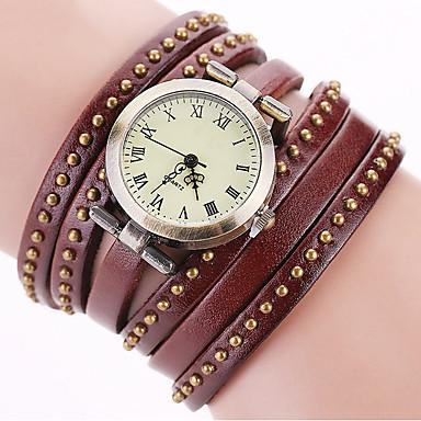 Damskie Zegarek na nadgarstek Zegarek na bransoletce Modny Kwarcowy Kolorowy Punk Skóra Pasmo Urok Błyszczące Vintage Kropka Na co dzień