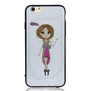 Varten Kuvio Etui Takakuori Etui Seksikäs nainen Pehmeä Tekonahka varten Apple iPhone 6s Plus/6 Plus / iPhone 6s/6