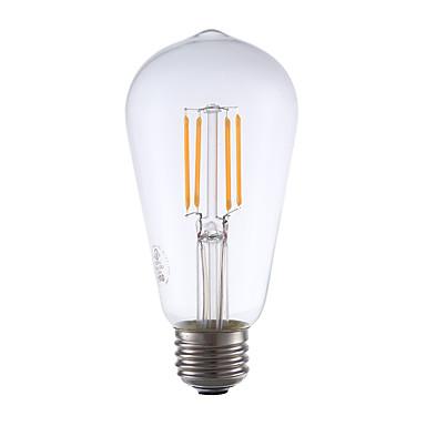 E26 LED-hehkulamput ST19 4 ledit COB Himmennettävissä Koristeltu Lämmin valkoinen 325lm 2400K AC 110-130V