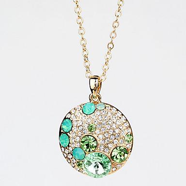 Damskie Naszyjniki z wisiorkami Biżuteria Kryształ Stop Okragły Wiszący Modny Europejski Biżuteria Na Ślub Impreza Codzienny Casual