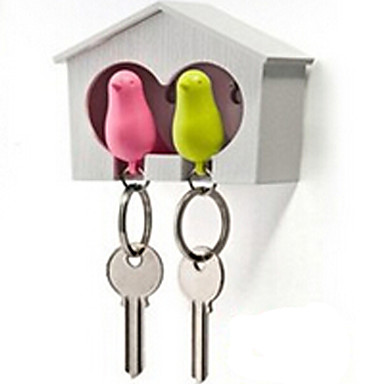 Schlüsselanhänger Spielzeuge Pfeife Vogel Tier Kunststoff Nautisch Urlaub Häuser lieblich Stücke Herrn Damen Kinder Geburtstag Kindertag