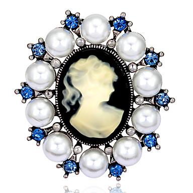 kobiet mody retro stop / Rhinestone / perły broszki kwiatowe pin stron / dobę / biżuteria ślubna akcesoria 1szt