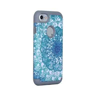 Varten Iskunkestävä / Pölynkestävä Etui Kokonaan peittävä Etui Yksivärinen Kova Silikoni varten AppleiPhone 7 Plus / iPhone 7 / iPhone 6s