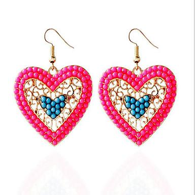 Γυναικεία Κρεμαστά Σκουλαρίκια Τιρκουάζ Πολυτέλεια Love Μοντέρνα Ζιρκονίτης Cubic Zirconia Ρητίνη Προσομειωμένο διαμάντι Κράμα Κοσμήματα