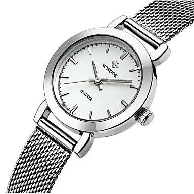 21c4c949fb8 WWOOR Dámské Náramkové hodinky Křemenný Nerez Stříbro   Zlatá   Růžové  zlato Voděodolné Analogové dámy Přívěšky