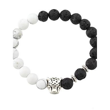 Bărbați Dame Bratari Strand La modă Personalizat costum de bijuterii Agat Aliaj Animal Shape Negru Mat Bijuterii Pentru Zilnic Casual
