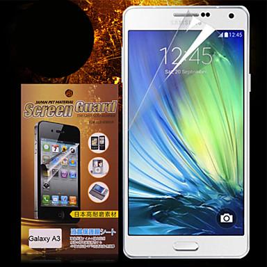 Screenprotector Samsung Galaxy voor A3 PET Voorkant screenprotector High-Definition (HD)