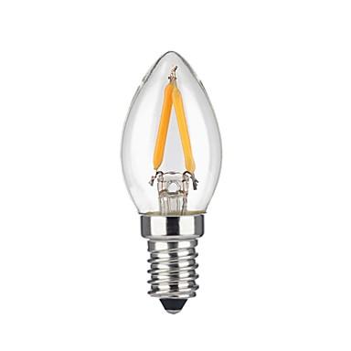 KWB 1pc 2 W 1600 lm E12 LED Λάμπες Πυράκτωσης 2 leds COB Θερμό Λευκό AC 110-130V