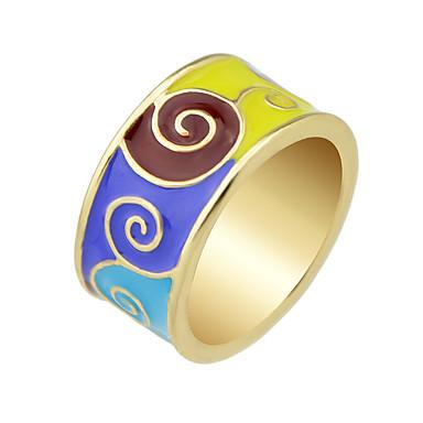 Duże pierścionki Stop Modny Black Green Niebieski Biżuteria Casual 1szt