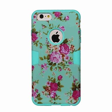 Kılıf Na Apple iPhone 6 iPhone 6 Plus Odporne na wstrząsy Wzór Pełne etui Kwiaty Twarde TPU na iPhone 6s Plus iPhone 6s iPhone 6 Plus