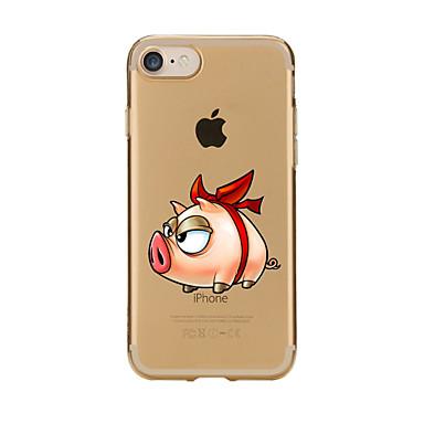 Για Διαφανής Με σχέδια tok Πίσω Κάλυμμα tok Κινούμενα σχέδια Μαλακή TPU για AppleiPhone 7 Plus iPhone 7 iPhone 6s Plus/6 Plus iPhone 6s/6