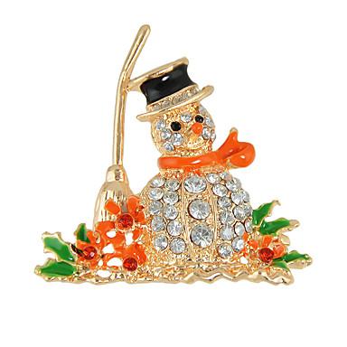 broche de strass coloridos boneco de neve