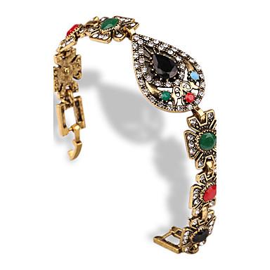 Damskie Bransoletki bangle Postarzane Syntetyczne kamienie szlachetne Imitacja diamentu Stop Heart Shape Kropla Biżuteria Na Casual