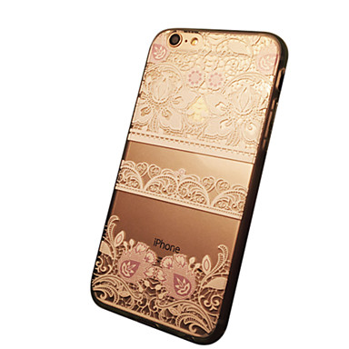 hoesje Voor Apple iPhone 6 iPhone 6 Plus Transparant Patroon Achterkant Lace Printing Zacht TPU voor iPhone 6s Plus iPhone 6s iPhone 6