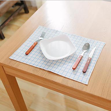 Neliö Painettu Gingham Placemats , Cotton Blend materiaali Hotel ruokapöytä Taulukko Dceoration
