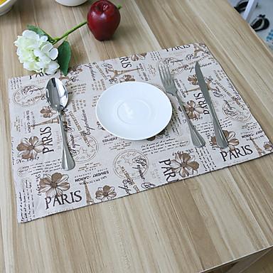 Pătrat Peteci Cu model Tăblițe masă , Amestec Bumbac Material Hotelul masă Tabelul Dceoration