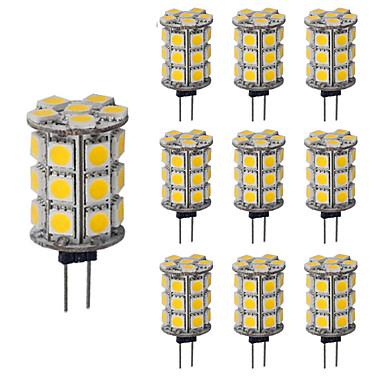 3.5 G4 أضواء LED Bi Pin T 27 مصلحة الارصاد الجوية 5050 300 lm أبيض دافئ أبيض كول مضاء ديكور DC 12 V 10 قطع