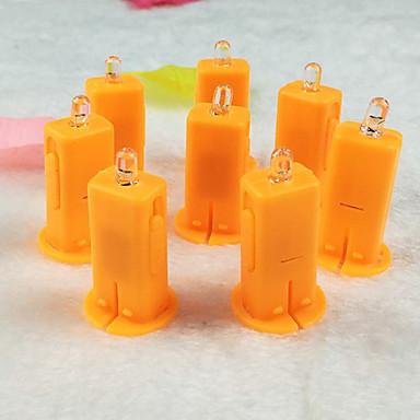 2szt specjalnego elektronicznego papieru latarni zapala światła Świeczka LED latarnia knot
