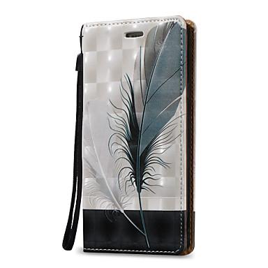 Kılıf Na Samsung Galaxy Etui na karty Portfel Flip Pełne etui Pióra Twarde Skóra PU na Note 5 Note 4 Note 3