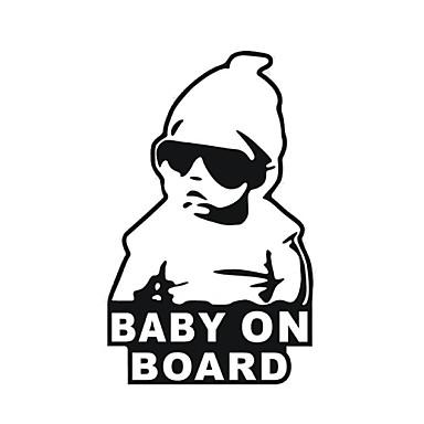 15 * 9cm / cool baby op autosticker motorfiets sticker board