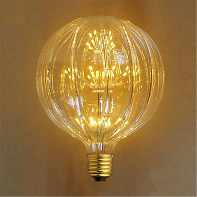 E26/E27 Hehkulamput 49 ledit Upotettu LED Koristeltu Keltainen 100lm 23000K AC 220-240V