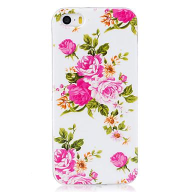 Uyumluluk iPhone 7 iPhone 6 iPhone 5 Kılıf Kılıflar Kapaklar Karanlıkta Parlayan IMD Arka Kılıf Pouzdro Çiçek Yumuşak TPU için Apple