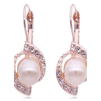Kadın Vidali Küpeler Yapay Elmas Moda İnci Simüle Elmas alaşım Mücevher Uyumluluk Günlük