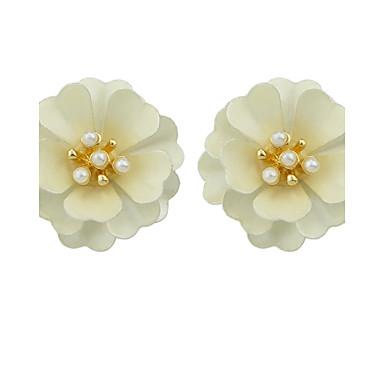 Σκουλαρίκι Κουμπωτά Σκουλαρίκια Κοσμήματα Γυναικεία Causal Κράμα 1 ζευγάρι Λευκό / Μπλε / Ροζ