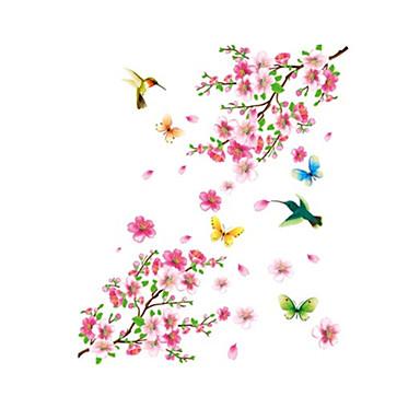 flor de ameixa PVC autocolante