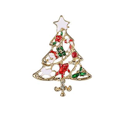 Damskie Dla dziewczynek Dla chłopców Broszki Święta Bożego Narodzenia Stop Biżuteria Na Prezenty bożonarodzeniowe Impreza Codzienny