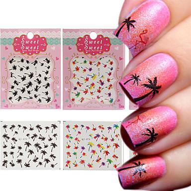 3 Sheet Nail Art Samoprzylepna Folie transferowe Woda Kosmetyki do makijażu Nail Art Design