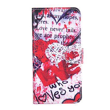 Maska Pentru Apple iPhone 6 iPhone 6 Plus Titluar Card Portofel Cu Stand Întoarce Carcasă Telefon Cuvânt / expresie Greu PU piele pentru
