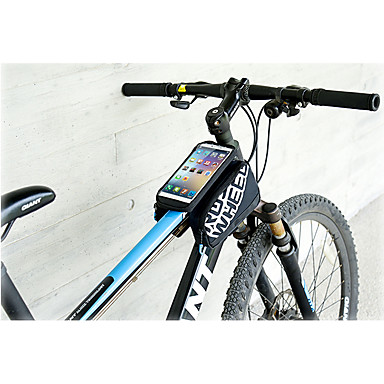 ROSWHEEL Pyörän Kännykkäkotelo 5.5inch tuuma Vedenkestävä Sateen kestävä Käytettävä Puhelin/Iphone Kosketusnäyttö Heijastinraidat Pyöräily