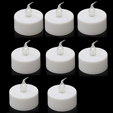 8pcs düğün için pilli çay led ışıkları