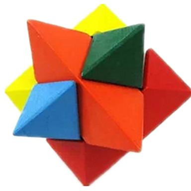 Mingi Puzzle Lemn Jocuri de Inteligență Kong Ming Lock Luban de blocare Jucarii Τρίγωνο Test de inteligenta Lemn Fete Băieți 1 Bucăți